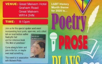 Spoken Word Evening with Malvern Pride